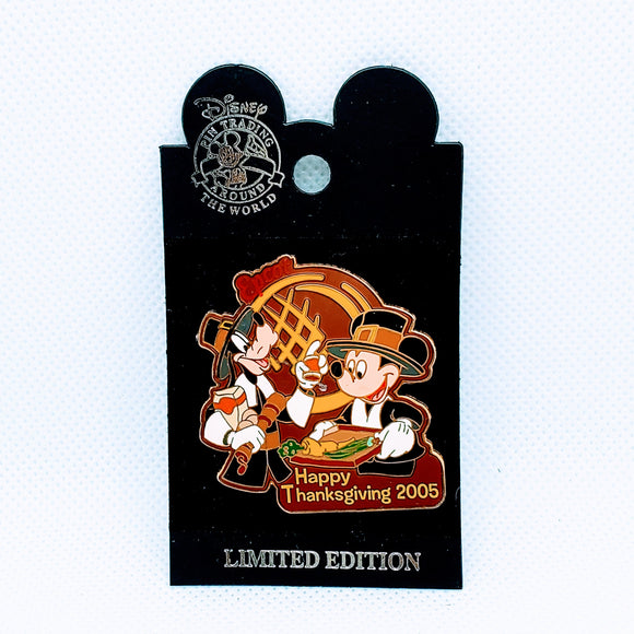 Happy Thanksgiving 2005 - Mickey and Goofy Pin