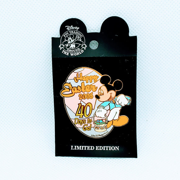 Happy Easter - 40 Days to Go - Mickey Mouse Pin