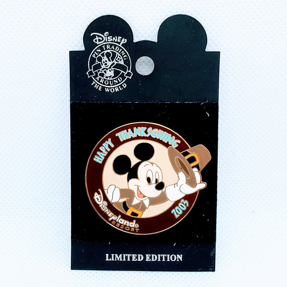 Happy Thanksgiving 2003 - Mickey Mouse Pin