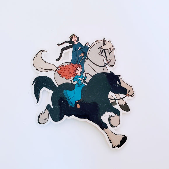 Queen Elinor & Merida Sticker