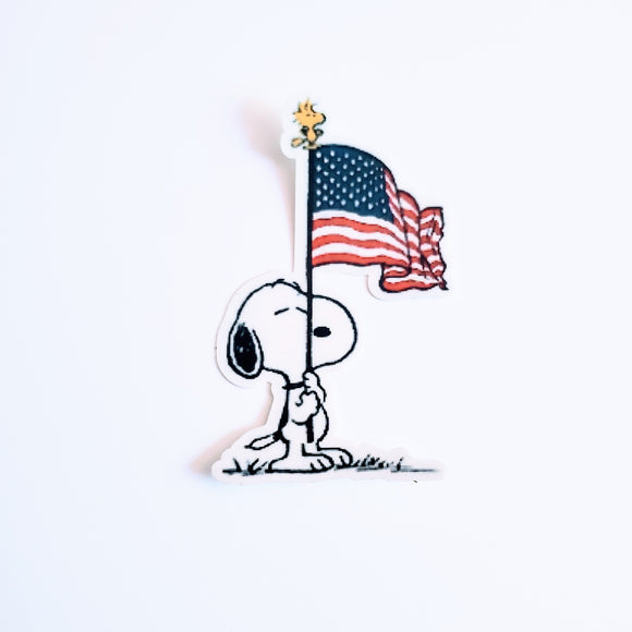 Patriotic Snoopy Sticker