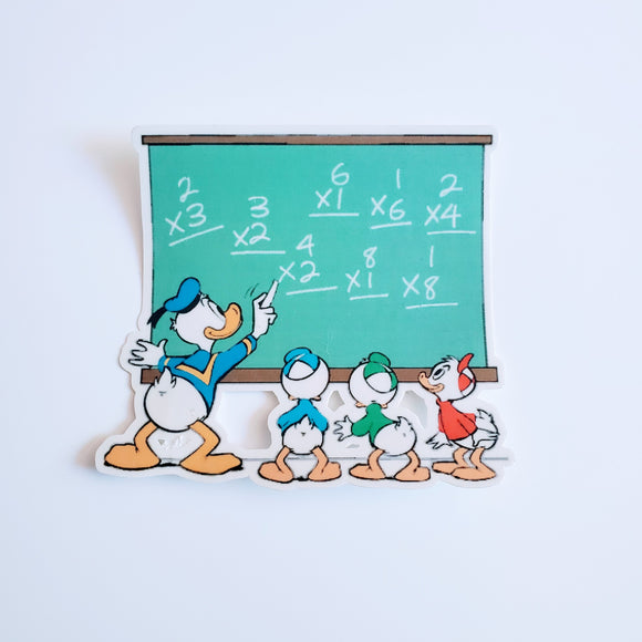Teacher Donald Sticker