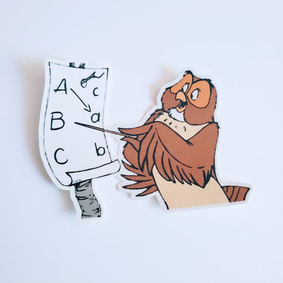 Owl Teacher Sticker