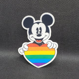Mickey With Pride Heart Sticker
