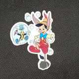 Pinocchio & Jiminy Water Sticker