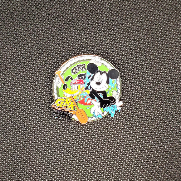 Mickey & Pluto Grizzly River Rafting Pin