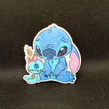 Sad Stitch with Scrump Sticker