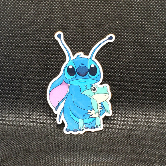Stitch with Frog Sticker