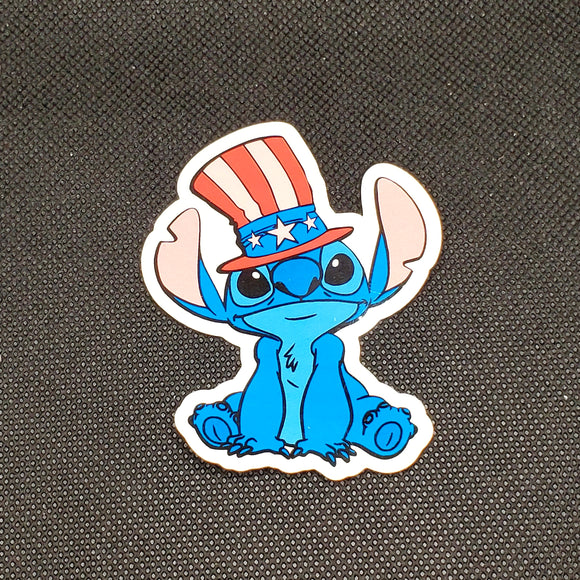 USA Stitch Sticker