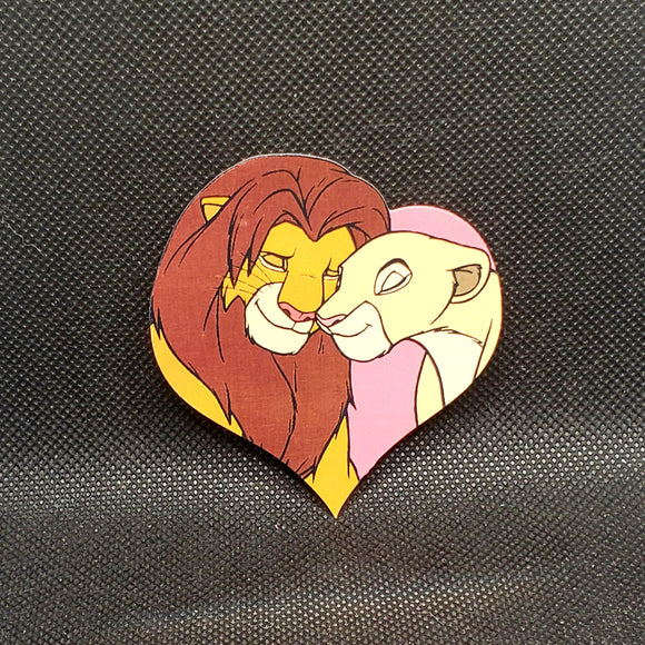 Simba & Nala Heart Sticker
