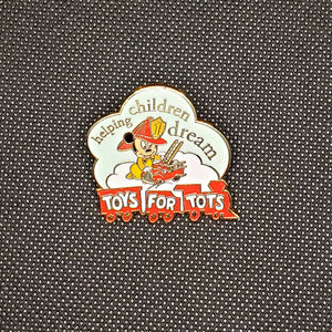 Toys For Tots Fireman Mickey Pin