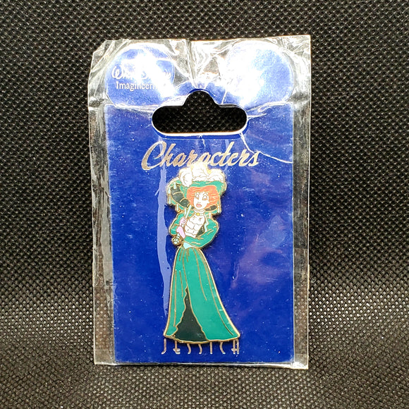 WDI - Jessica Rabbit Dressed As Gibson Girl Pin