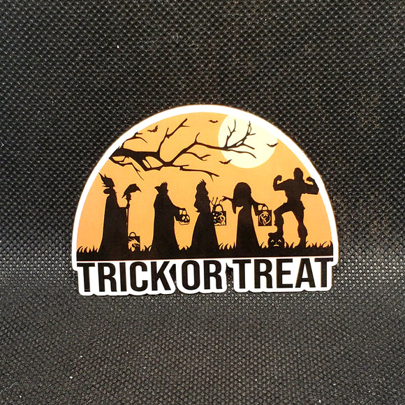 Villain Trick or Treat Sticker