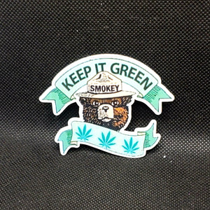 Keep It Green Smokey Sticker