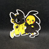 Pikachu & Toothless Mash-Up Sticker