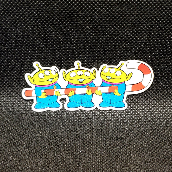 Christmas Little Green Men Sticker