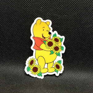 Pooh Sunflower Sticker