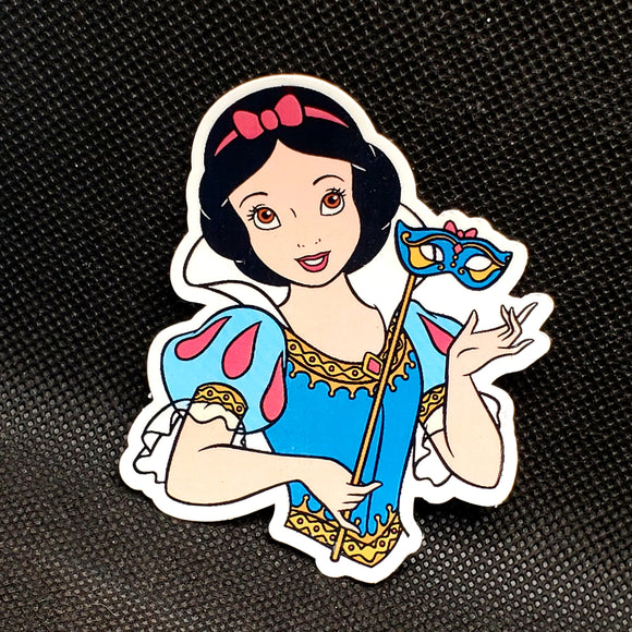 Snow White with Masquerade Mask Sticker