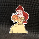 Belle with Pumpkin Sticker