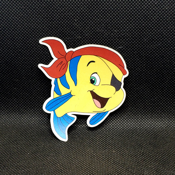 Pirate Flounder Sticker