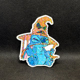 Stitch with Sorting Hat Sticker