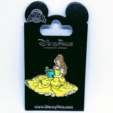 Belle Reading Book Pin
