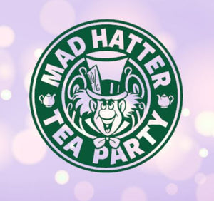 Mad Hatter Tea Party Starbucks Decal