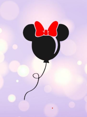 Minnie Balloon Decal