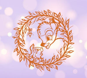 Bambi and Thumper Circle Decal