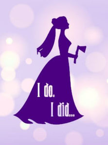 "Haunted Mansion Bride - ""I Do, I Did"" Decal"