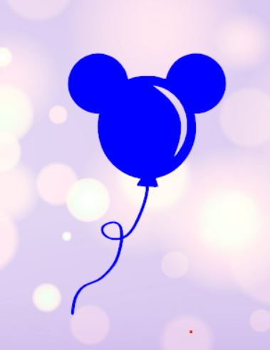 Mickey Balloon Decal