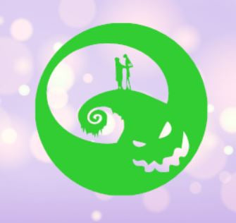 Jack and Sally on Oogie Boogie Moon Decal
