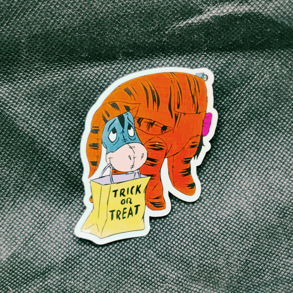 Trick or Treat Eeyore Sticker