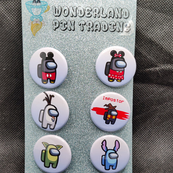 Among Us (Disney) Mini Flair Set
