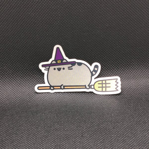 Witch Pusheen Cat Sticker