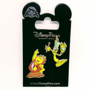 Lumiere & Cogsworth Pin
