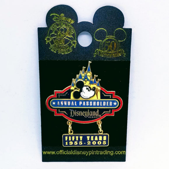 Mickey Mouse Annual Passholder 50 Years Pin