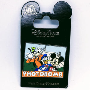 Photobomb Mickey, Donald, and Goofy Pin