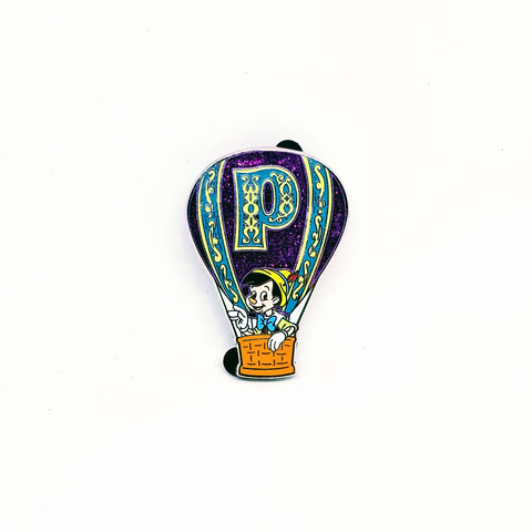 Pinocchio Hot Air Balloon Pin
