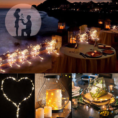 10m 100 led 3aa battery operated copper wire colorful tiny string fairy light for holiday wedding