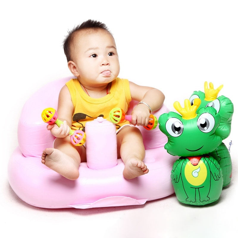 PVC Baby Sofa Inflatable Kids Training Seat Bath Dining Chair ...