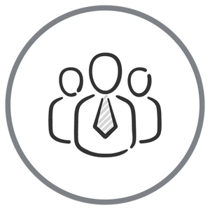 Strong Relationships Icon - Three People Outline