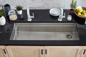 Morgan Tap and Basin 46.5in Workstation Basin with Two Tiers and Offset Corner Drain