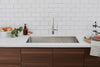 Morgan Tap and Basin Double Bowl Undermount Basin in Modern Kitchen with Coffee and Pastries