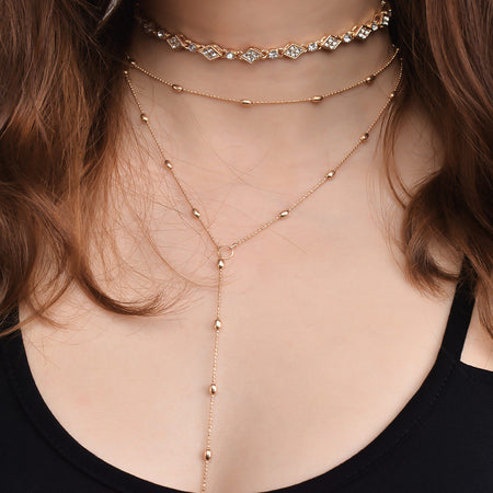 Becky - Cross Pendants Multi-layered Clavicle Necklace