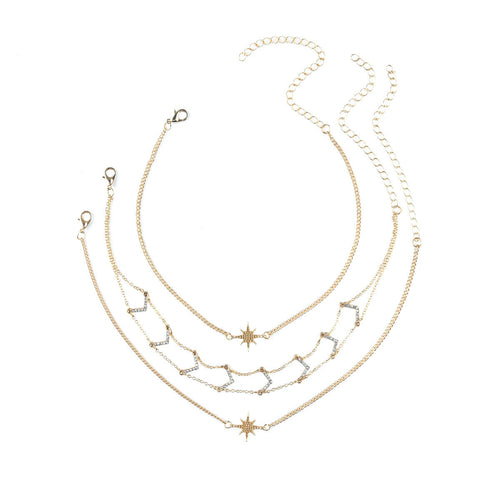 Venus - Multi layer diamond necklace - JunoJuly