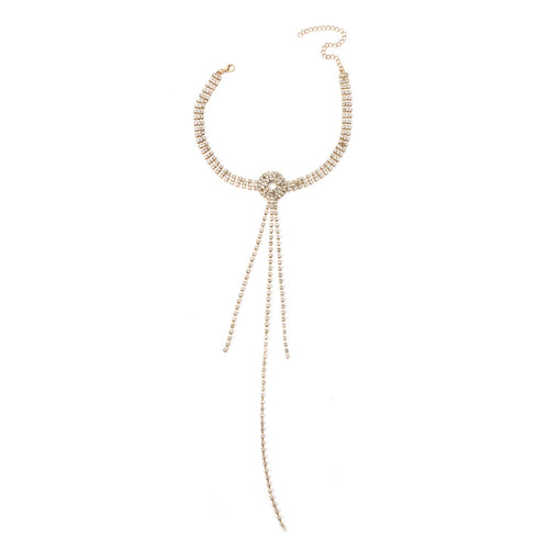 Queena - Diamond Fringed Necklace - JunoJuly