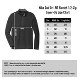 Nike Golf Dri FIT Stretch Half Zip Cover Up - Black/Dark Grey