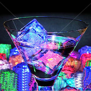 12 Pack - LED Water Activated Ice Cubes