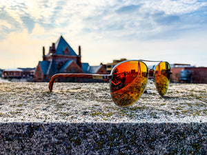 Elevated Shades - Red Aviators - Polarized Red Lenses